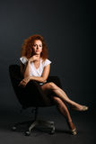 Beautiful redhair woman portrait. Royalty Free Stock Photography