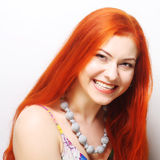 Beautiful redhair woman royalty free stock images