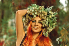 Beautiful redhair young girl smiling on camera Royalty Free Stock Photos