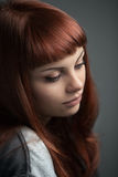 Beautiful redhaired girl Royalty Free Stock Images