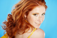 Beautiful redhead Stock Photos