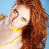 Beautiful redhead Stock Photography