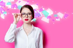 Beautiful Redhead Businesswoman Royalty Free Stock Image