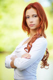 Beautiful redhead girl Stock Images