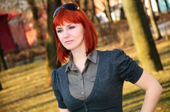 Beautiful redhead girl Royalty Free Stock Photos
