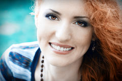Beautiful redhead girl. Beautiful portrait of a  redhead girl Stock Photography