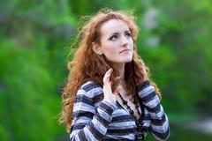 Beautiful redhead girl. Beautiful portrait of a  redhead girl Stock Photos