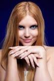 Beautiful redhead girl stock image