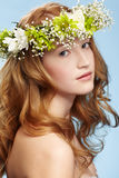 Beautiful redhead girl Stock Photos