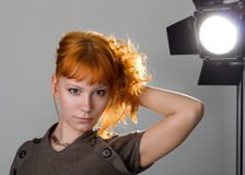 Beautiful redhead girl Royalty Free Stock Images