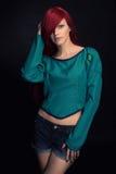 Beautiful redhead Girl. Royalty Free Stock Photography