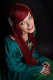 Beautiful redhead Girl. Stock Photo