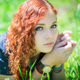 Beautiful redhead girl. Stock Photography