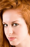 Beautiful Redhead Girl Portrait Stock Image