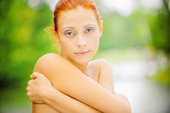 Beautiful redhead girl Stock Photography