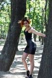 Beautiful redhead girl posing Stock Images