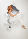 Beautiful redhead girl stock photo