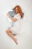 Beautiful redhead girl stock photos