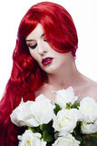Beautiful redhead, maid of honor Royalty Free Stock Image