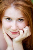 Beautiful redhead outdoor Stock Images