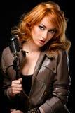 Beautiful Redhead Singer Stock Images