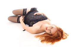 Beautiful redhead in the studio Stock Photography