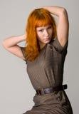 Beautiful redhead studio photo Royalty Free Stock Image