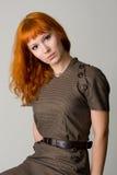 Beautiful redhead studio photo Stock Image