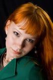 Beautiful redhead studio photo Royalty Free Stock Photography