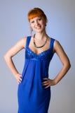 Beautiful redhead studio photo Stock Photography