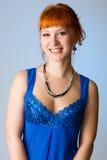 Beautiful redhead studio photo Stock Images