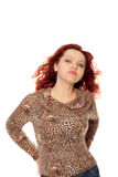 Beautiful redhead woman Stock Images