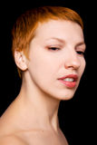 Beautiful redhead woman Stock Images