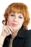 beautiful redhead woman στοκ εικόνες
