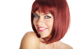 Beautiful redhead woman Stock Photos