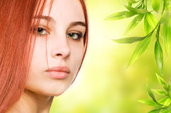 Beautiful redhead woman Stock Photography