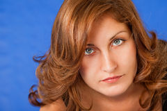 Beautiful redhead woman face Stock Photo