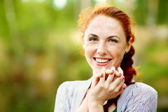 Beautiful redhead woman royalty free stock photos