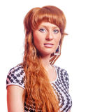 Beautiful redhead woman Royalty Free Stock Photography