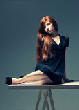 Beautiful redheaded girl Royalty Free Stock Photo