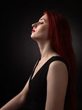 Beautiful redheaded woman Royalty Free Stock Images