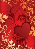 Beautiful reds heart Royalty Free Stock Images
