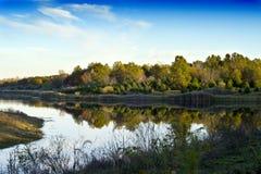 Beautiful Reflection. Beautiful daylight shot of an Illinois lake spring Stock Image