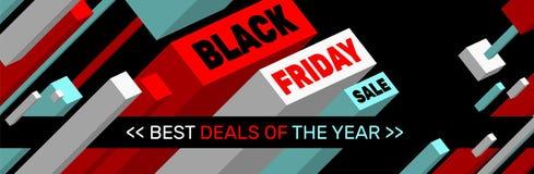 BLACK FRIDAY SALE Banner design stock image