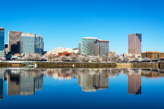 Beautiful Reflection of Downtown Portland Royalty Free Stock Image