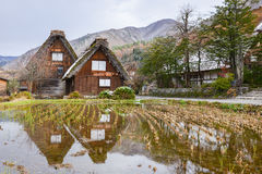 Beautiful Reflection of The Historic Villages in Japan Stock Photography