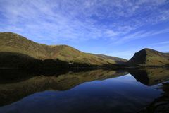 Buttermere Lake District reflection stock photo