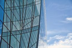 Beautiful reflection in modern glass wall . Building glass Stock Photography