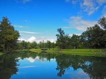 Beautiful reflection of a peaceful lake Stock Photo
