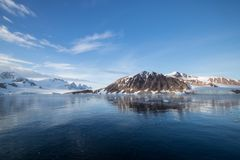 Beautiful reflections in Antarctica Royalty Free Stock Images